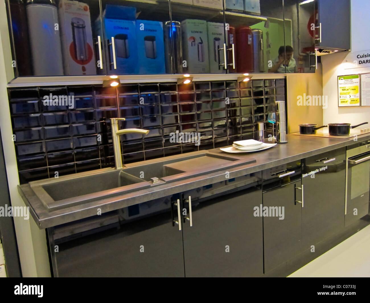 paris, france, modern kitchen design, shops, inside displays