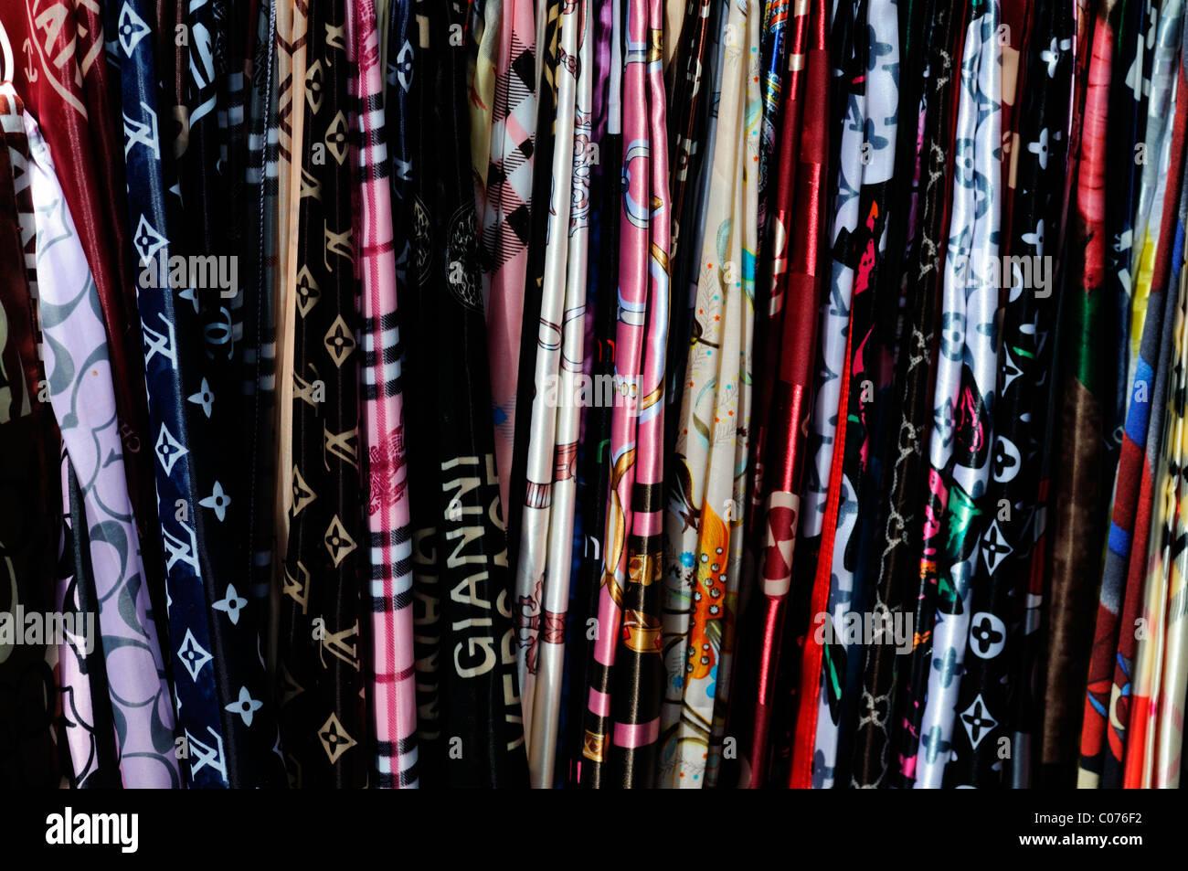 designer silk scarves pirate pirated luxury goods on