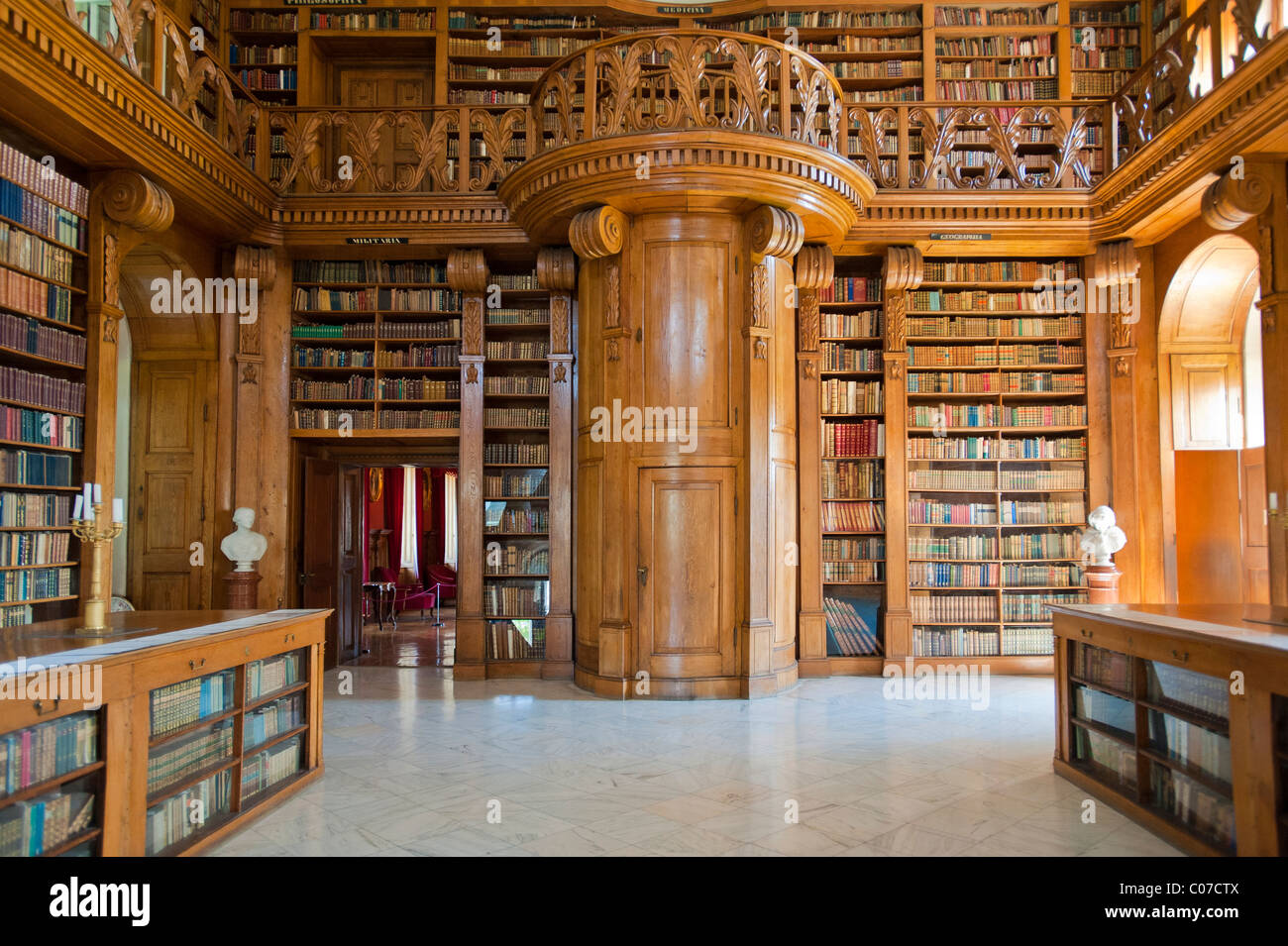 Helikon Library Interior Baroque Castle Festetics