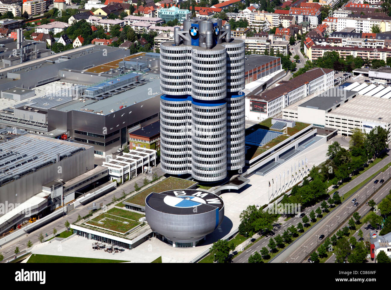 Bmw High Rise Building And Bmw Museum Headquarters Of The