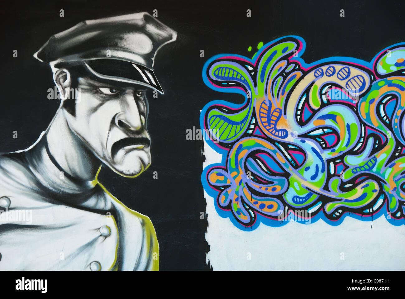 Graffiti wall usa - Graffiti Wall Art In Wynwood Art District Of Miami Florida Usa