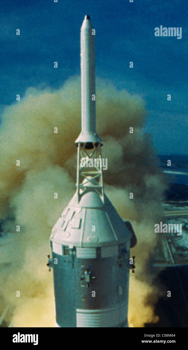 Apollo 11 Launch First Moon Mission Top Of The Rocket ...