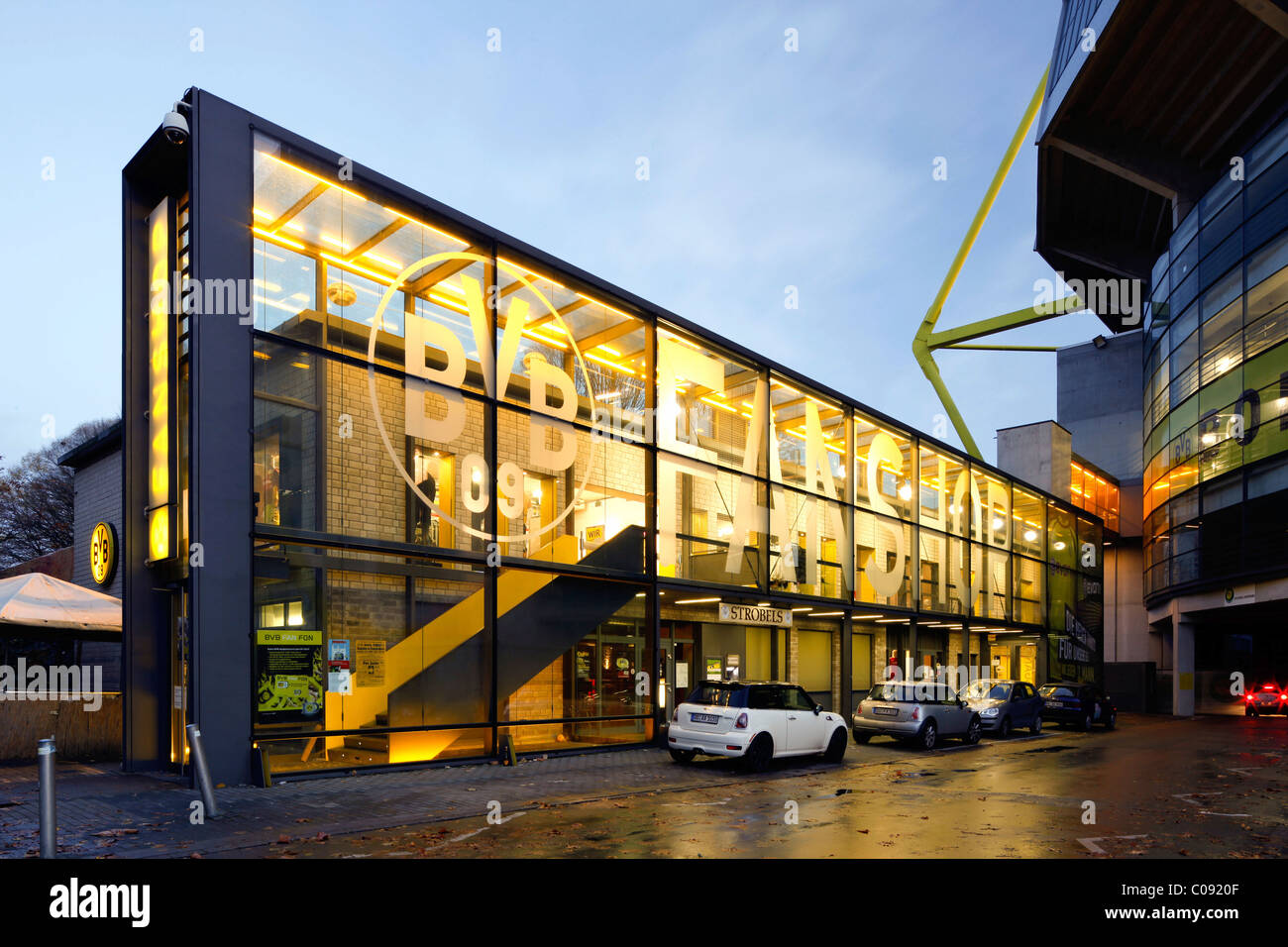 BVB Fan Shop At The Westfalenstadion Stadium Signal-Iduna-Park Stock Photo Royalty Free Image ...