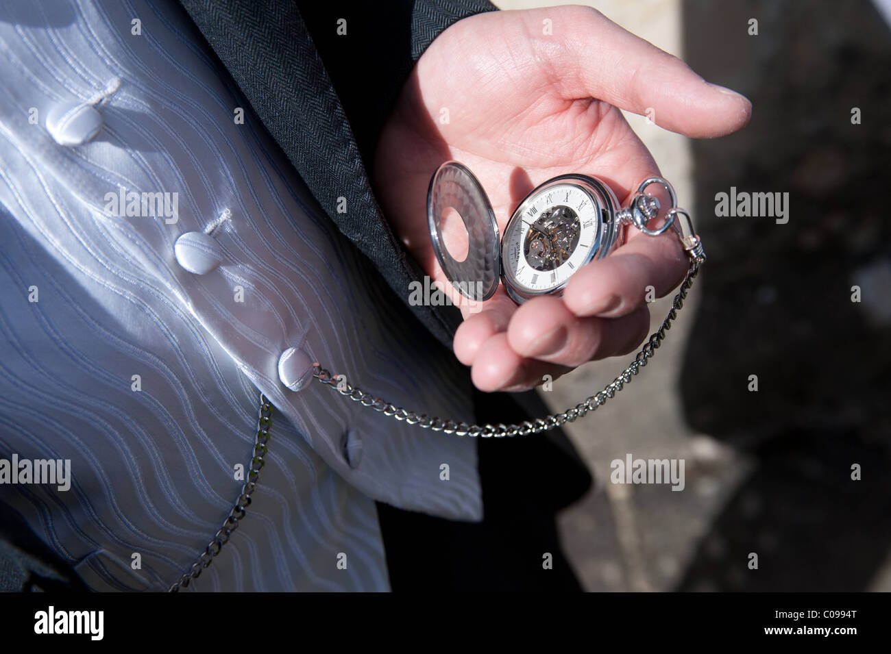 http://c8.alamy.com/comp/C0994T/a-mans-hand-holding-a-pocket-watch-attached-by-a-chain-to-his-waistcoat-C0994T.jpg