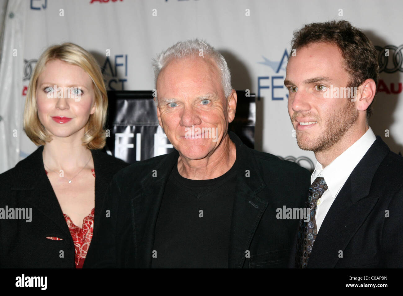 Lilly mcdowell malcolm mcdowell and charlie mcdowell southland tales premiere as part