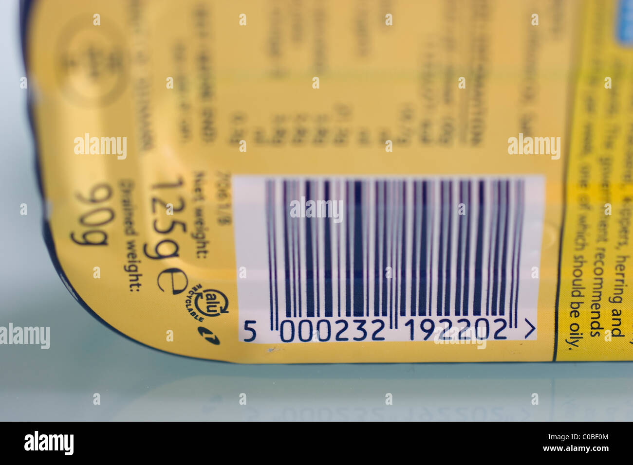 Barcode on food item stock photo 34673988 alamy for Food barcode