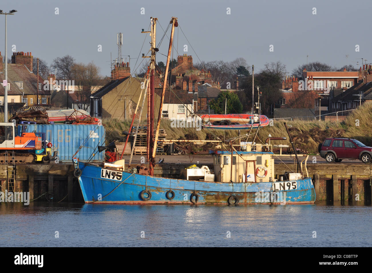 Fishing boat at boal quay king 39 s lynn norfolk stock for Fishing kings free