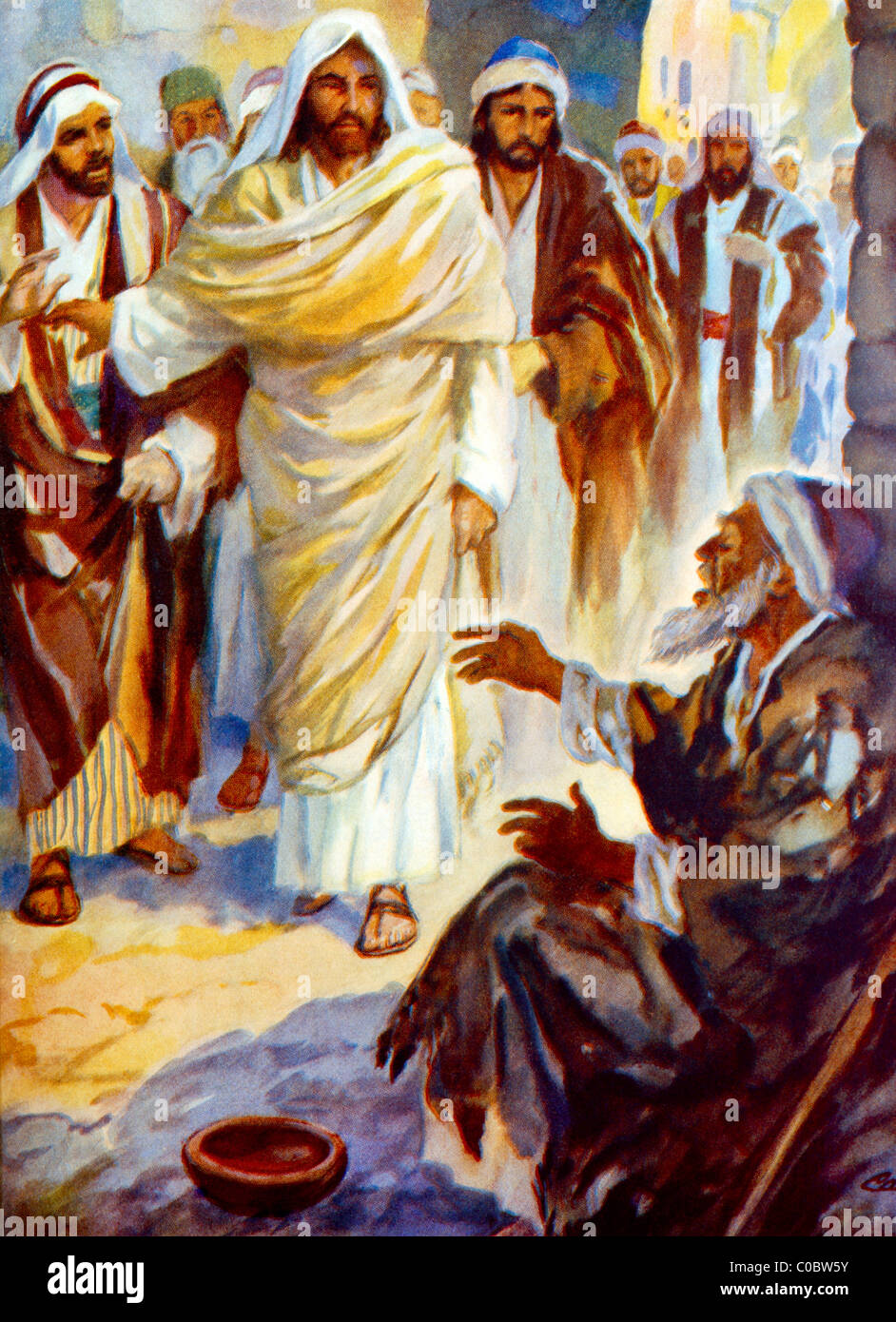 Blind Bartimaeus Calls To Jesus To Restore His Sight