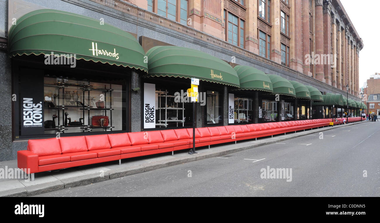Attractive Stock Photo   The Worlds Longest Sofa Is Presented At Harrods As Part Of  Their Their Design Icons Season London,England  05.05.08