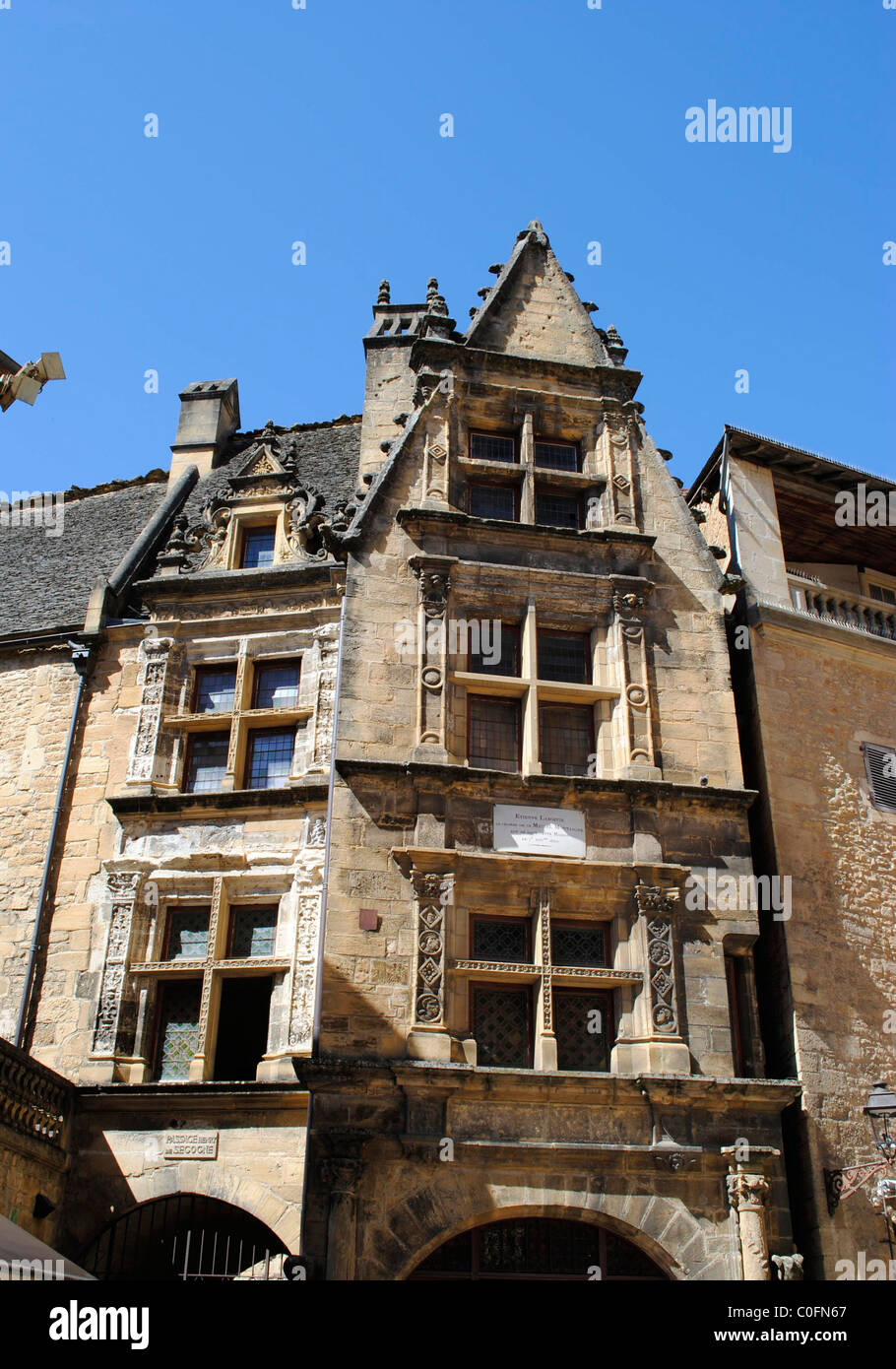 maison de la boetie sarlat dordogne france stock photo. Black Bedroom Furniture Sets. Home Design Ideas