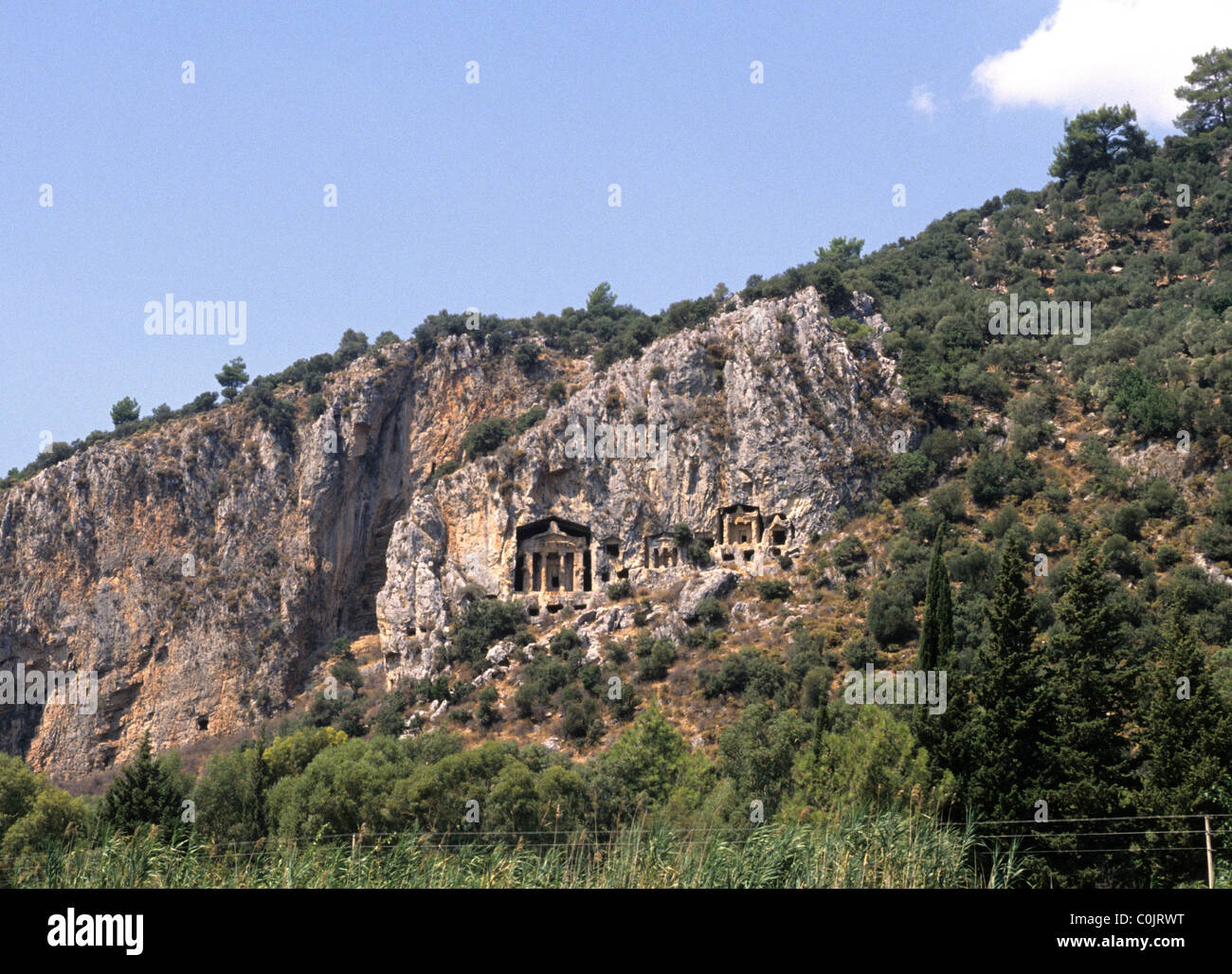 Lycian rock tombs near Kaunos Caunus Caunos close to ...