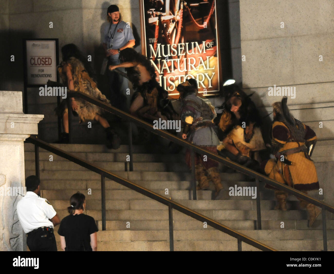 Extras In Costume On The Film Set Of Night At The Museum - Film museums in usa