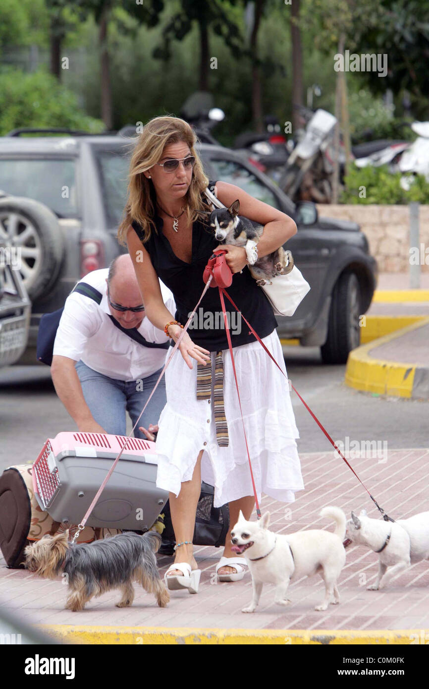Arantxa Sanchez Vicario and Jose Santacana on holiday to her in