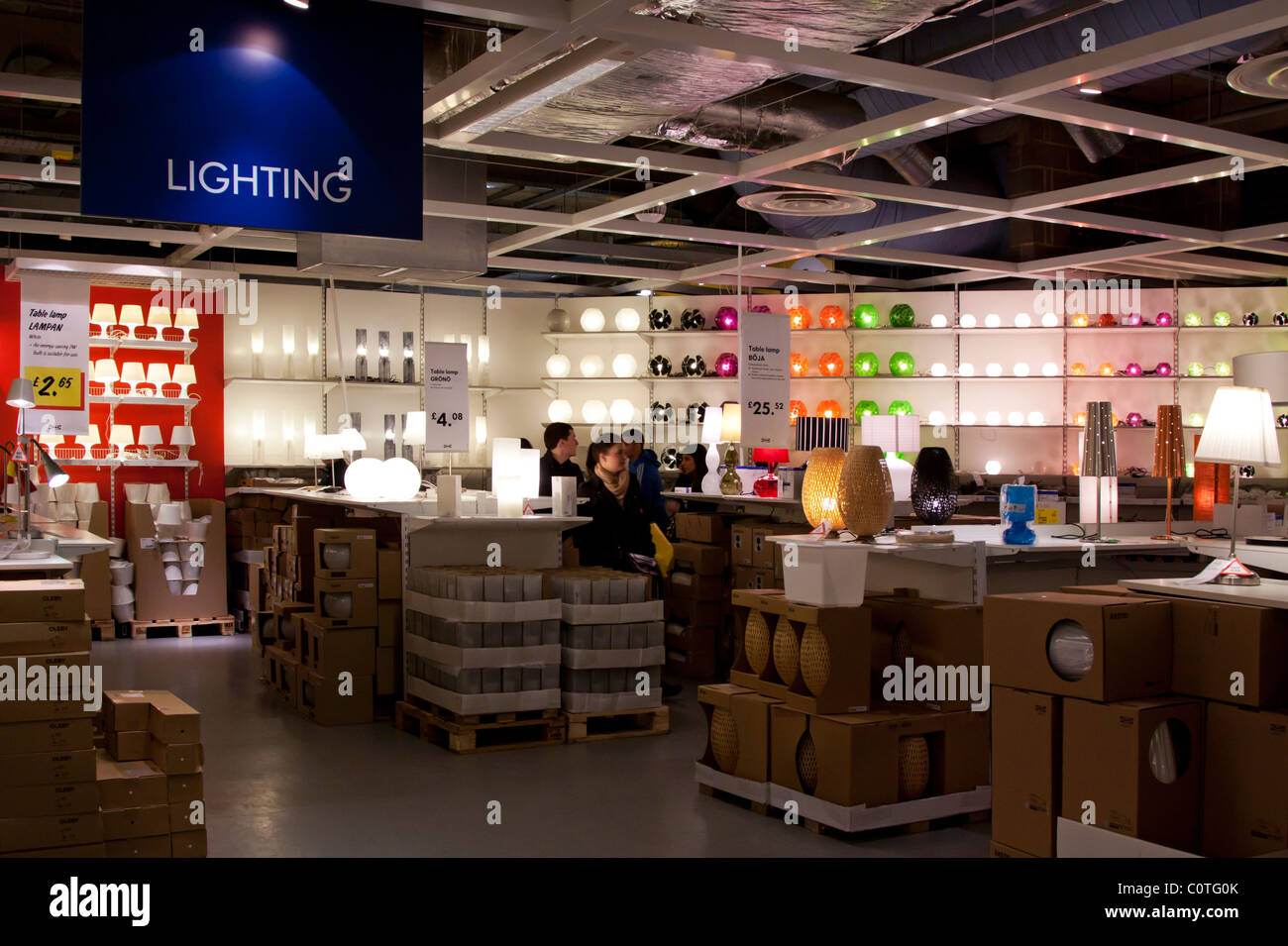 lighting department ikea store wembley london stock