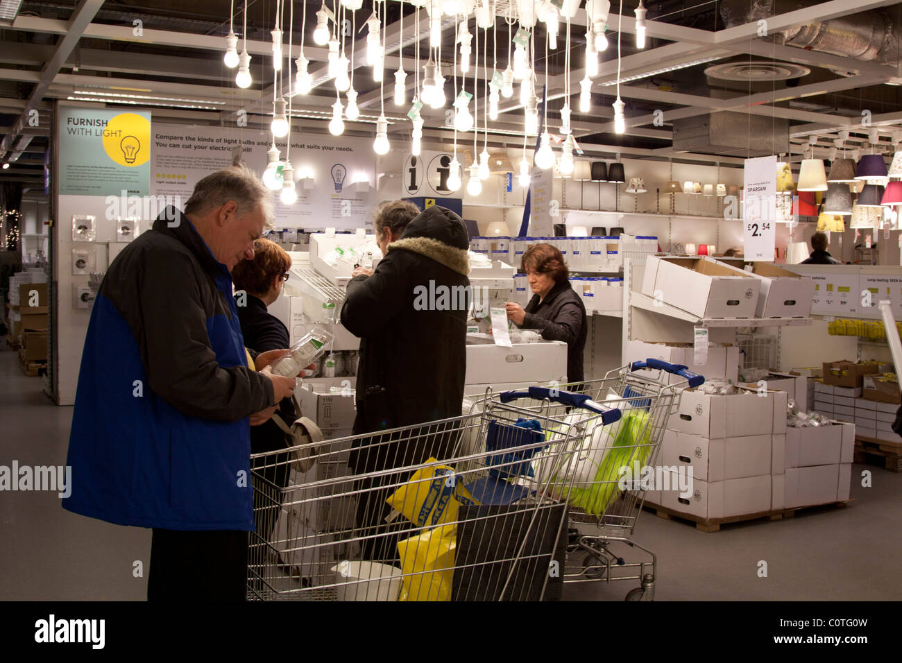 Lighting department ikea store wembley london stock for Ikea shops london