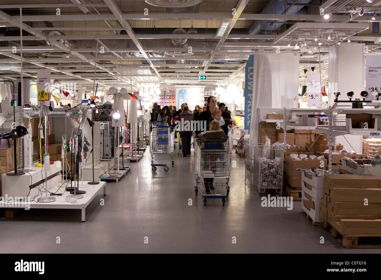 Ikea In Mass Ikea Store Wembley London Stock Photo Royalty Free Image