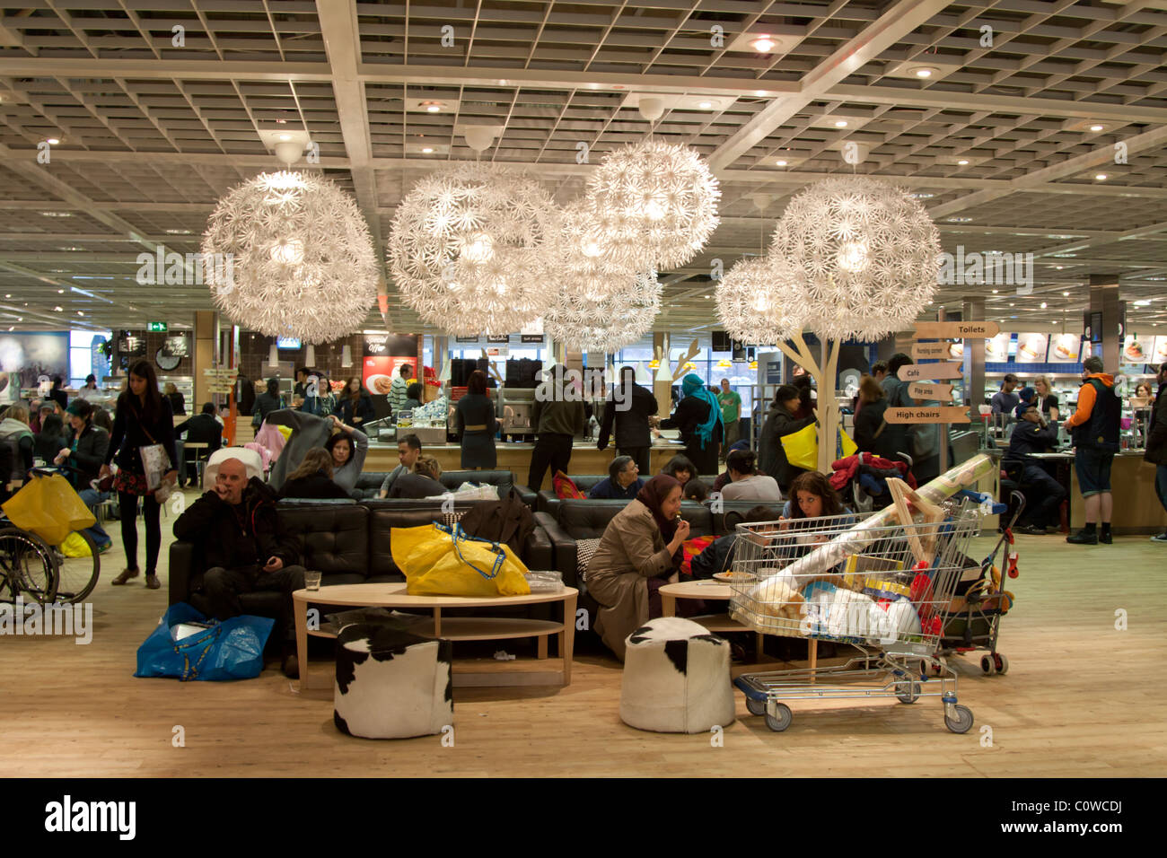 Restaurant ikea store wembley london stock photo for Ikea shops london