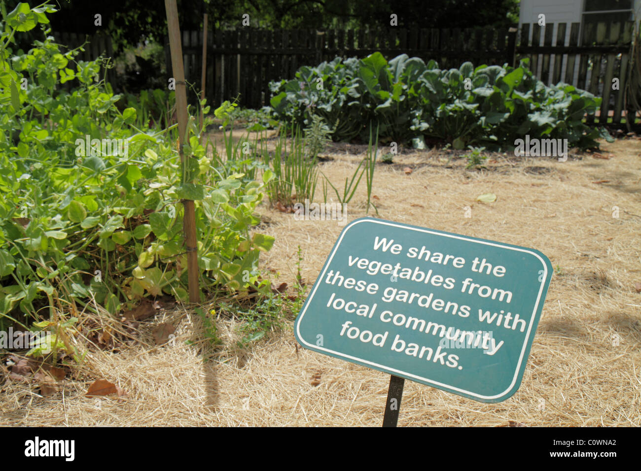 Orlando Florida Harry P. Leu Gardens Sign Vegetable Garden Community Food  Bank
