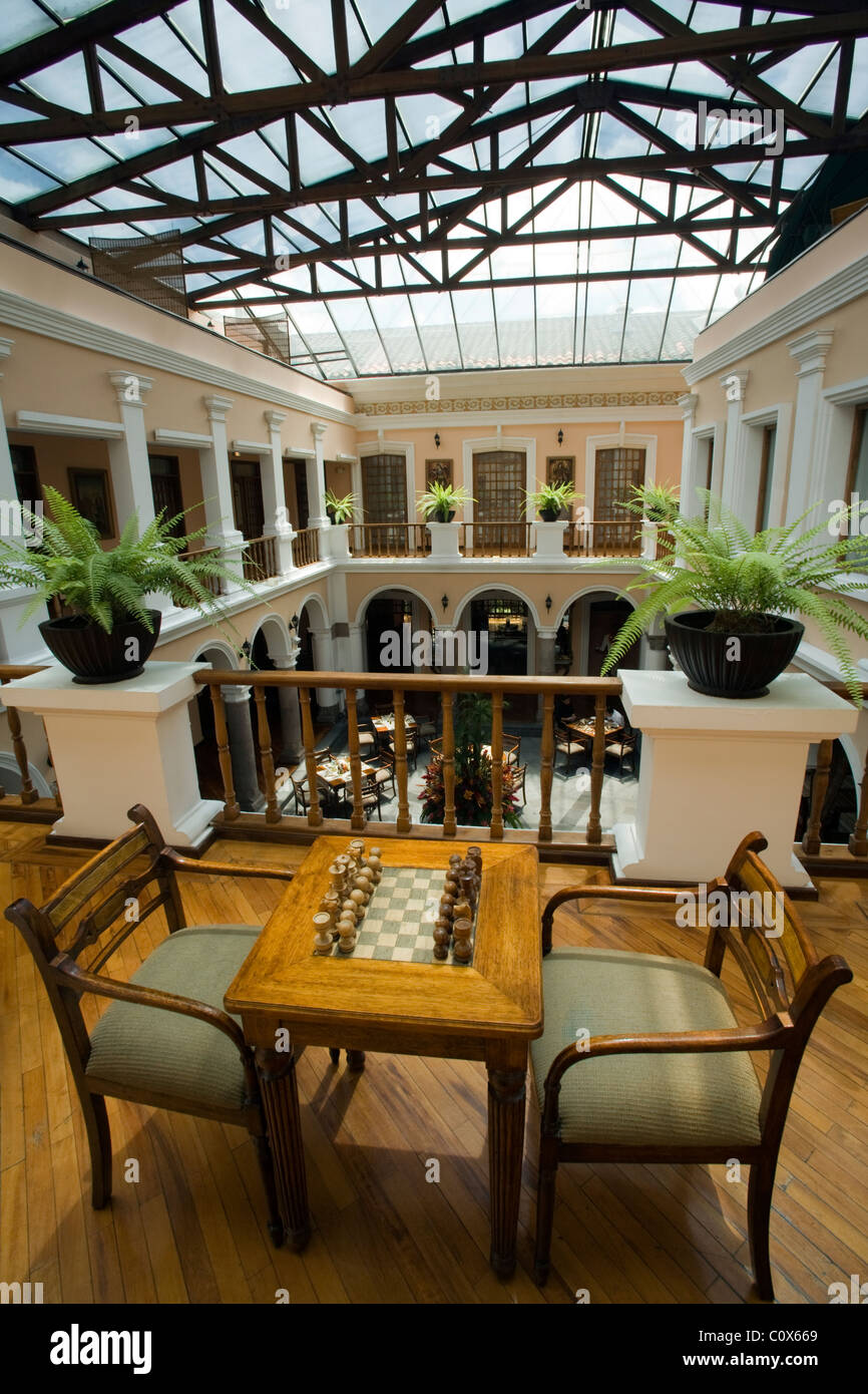 Beautiful Chess Set And Atrium At Hotel Patio Andaluz   Quito, Ecuador