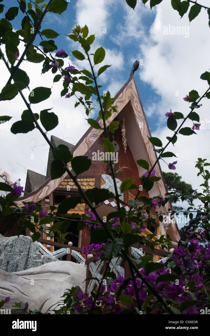 Part of exterior Hang Nga Guesthouse or Crazy House in Dalat in ...