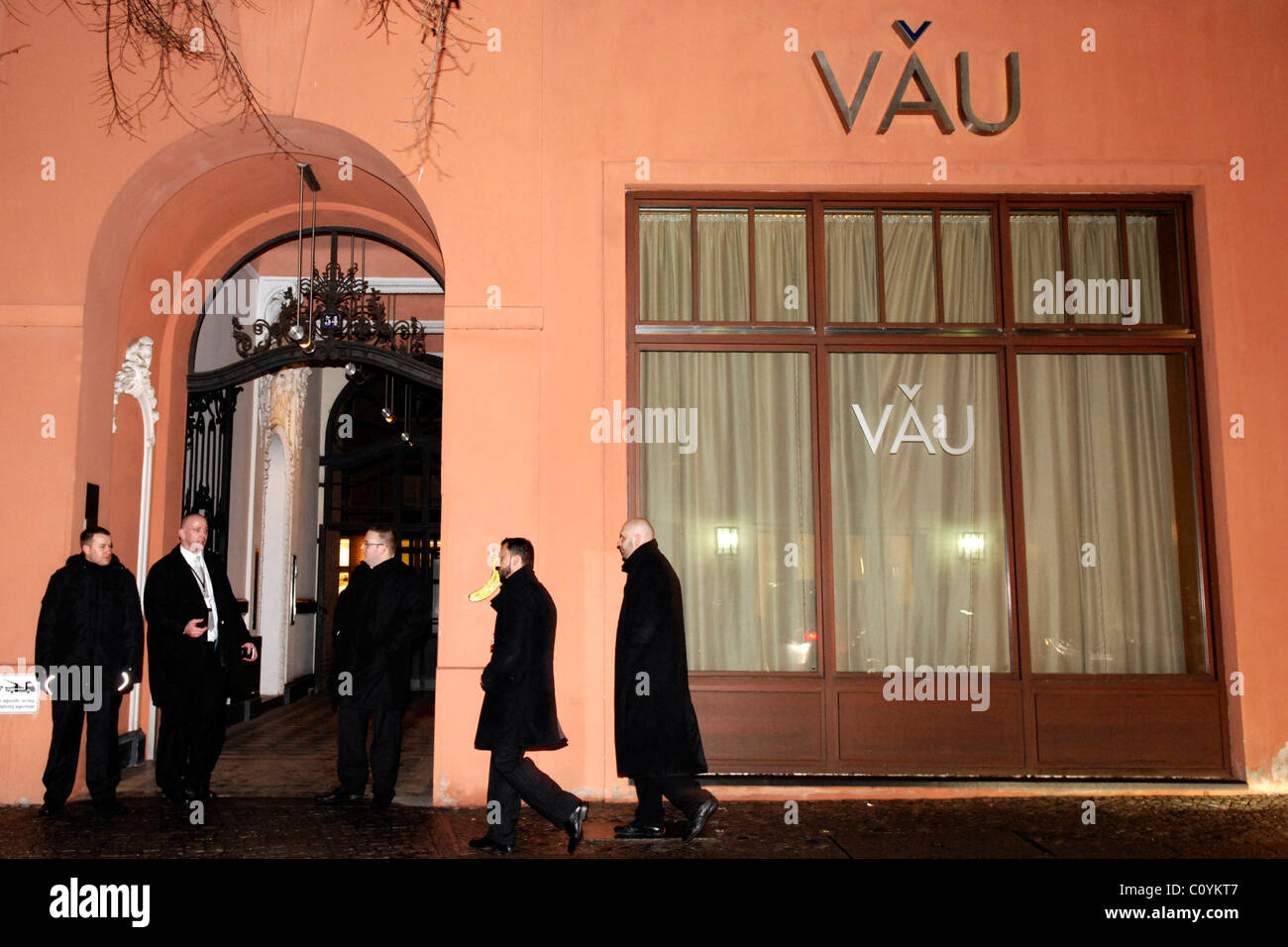 Security At Restaurant VAU Berlin, Germany   19.01.09