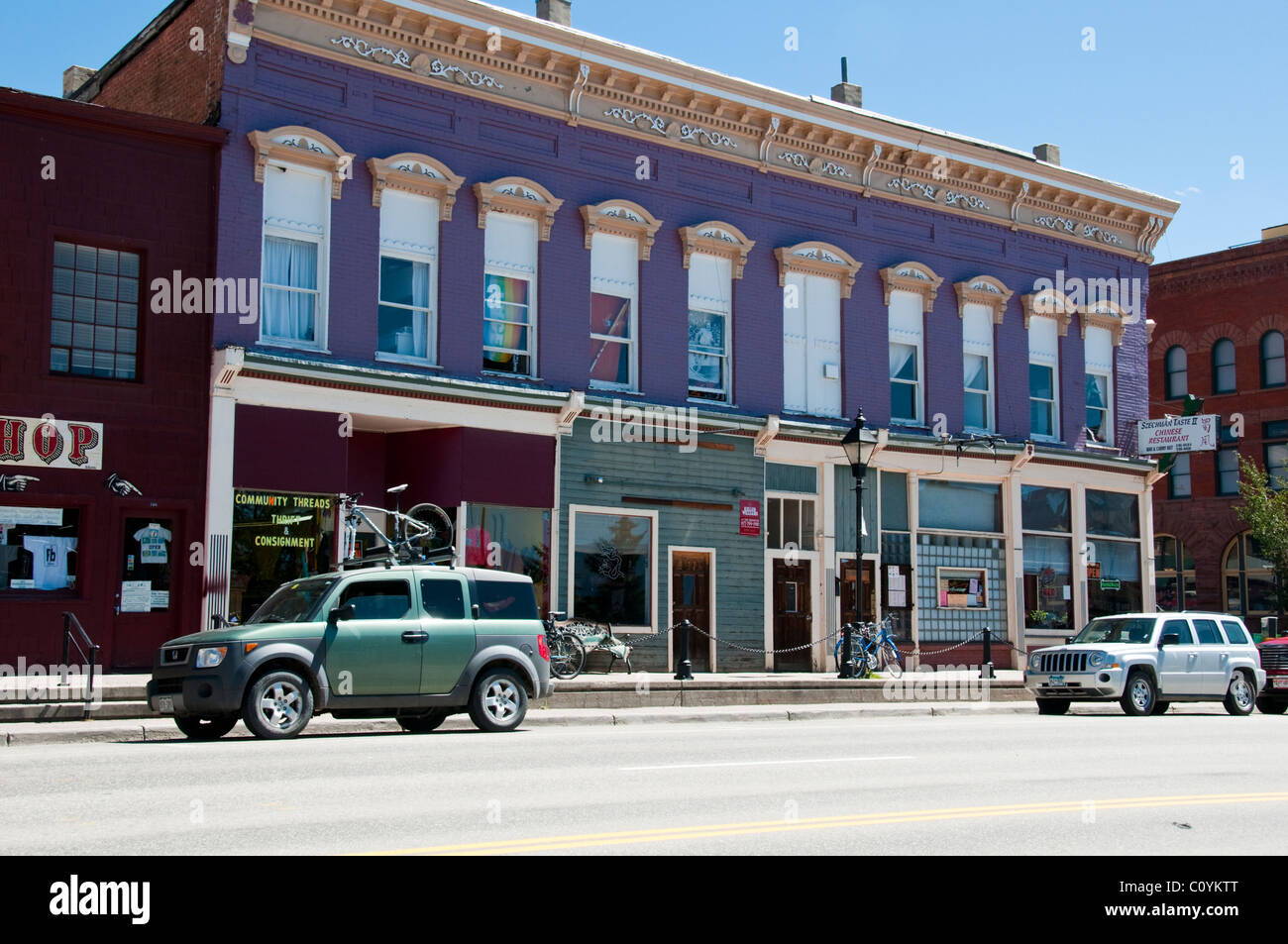 Leadville Old Silver Mining Town Victorian Architecture