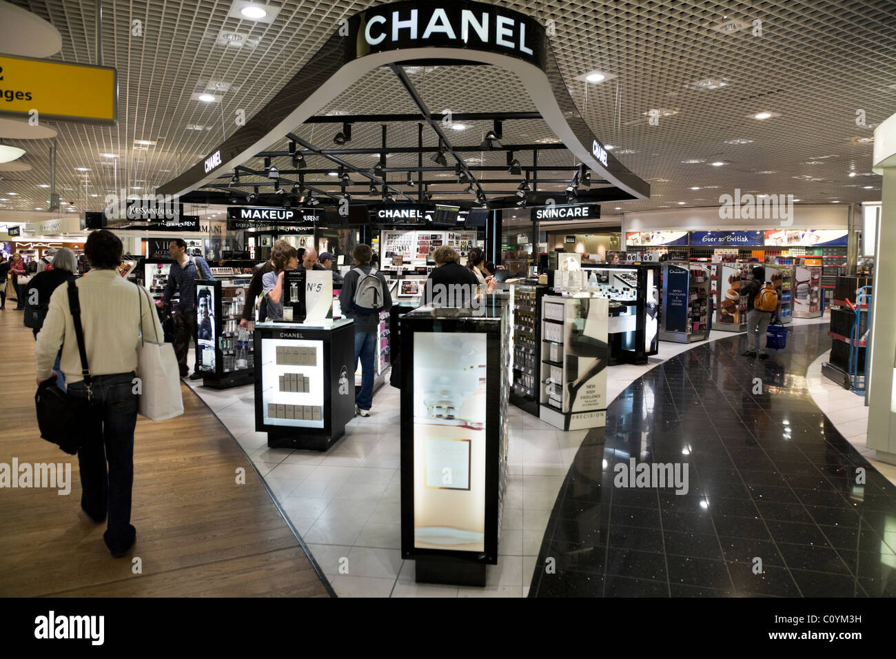 chanel outlet. luxury goods / chanel perfume perfumery cosmetics shop outlet in departure lounge at s