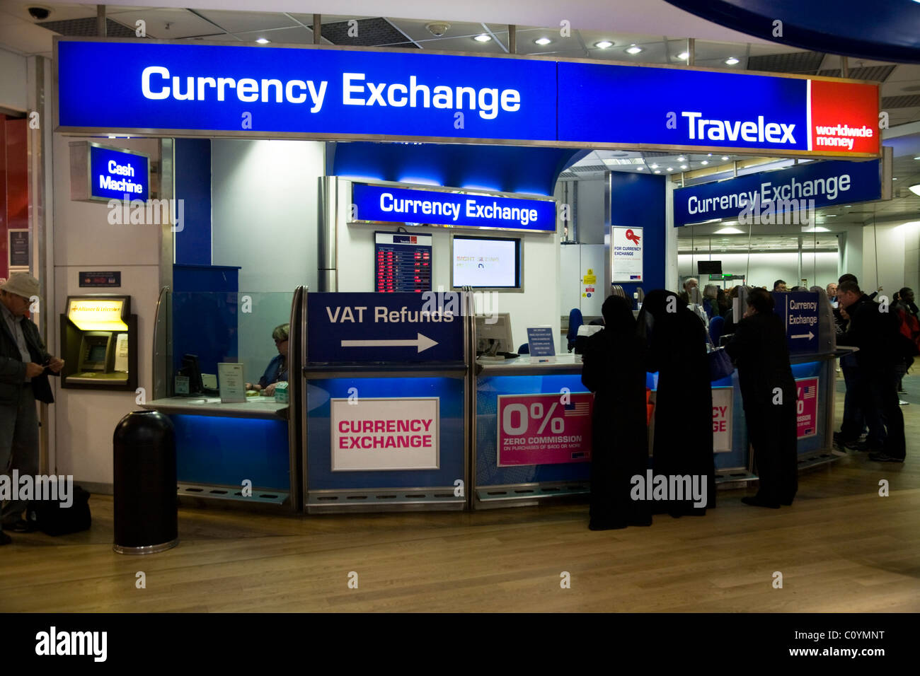 Bureau de change office operated by travelex at heathrow for Bureau change