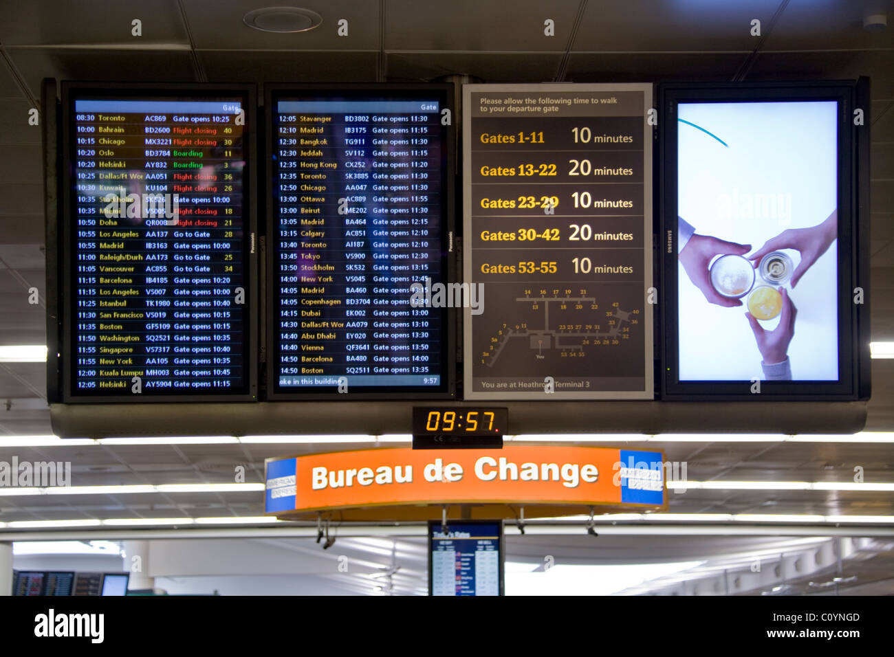 airport departure display monitor television tv timetable stock photo royalty free image. Black Bedroom Furniture Sets. Home Design Ideas