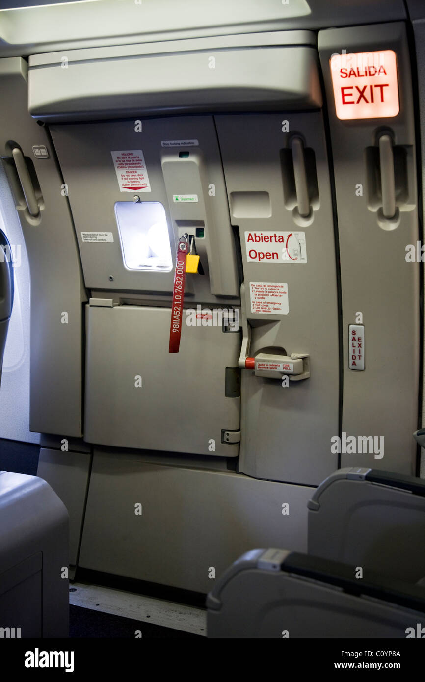 Exit row emergency exit door to escape from the cabin / fuselage on an Airbus & Emergency Exit Door Plane Stock Photos \u0026 Emergency Exit Door Plane ... Pezcame.Com