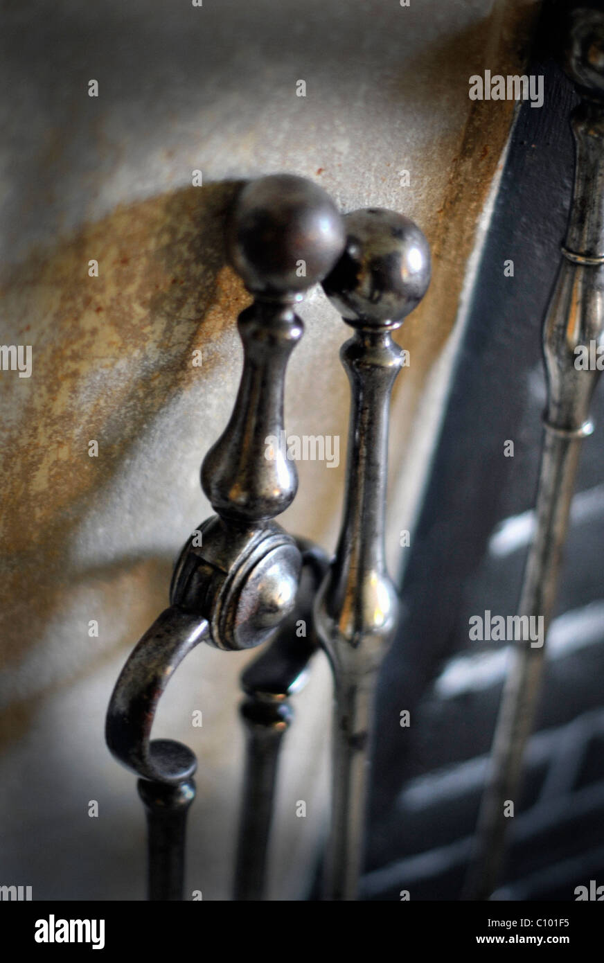 fire tongs and poker stock photo royalty free image 35036601 alamy