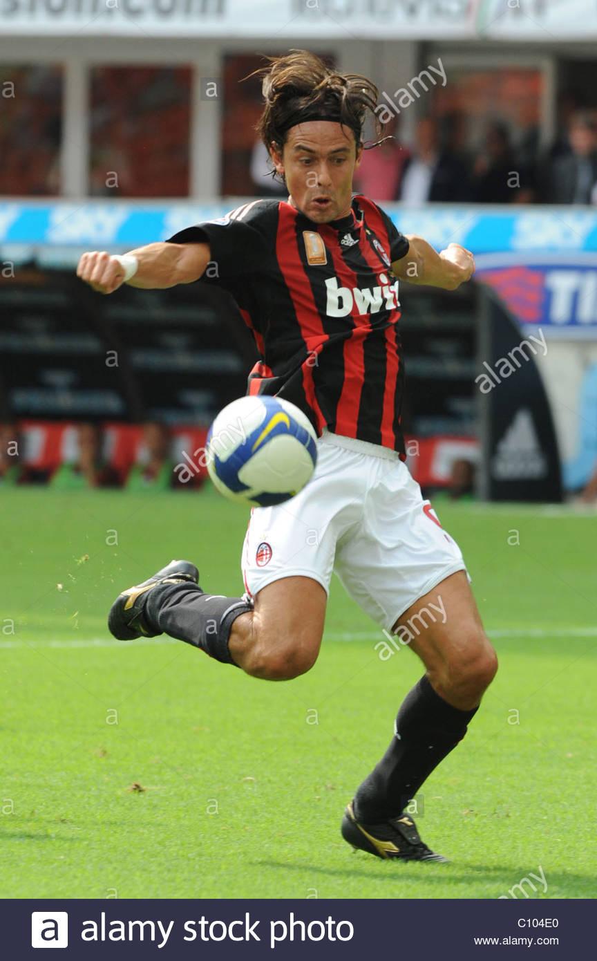 Filippo Inzaghi of Serie A team AC Milan Brengola Diena