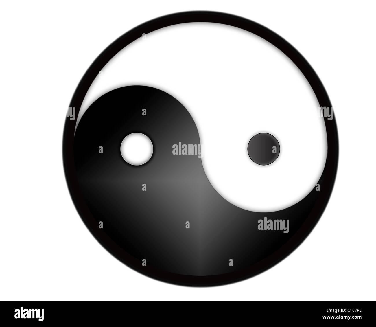Yin yang tao symbol computer generated stock photo royalty free yin yang tao symbol computer generated buycottarizona Images