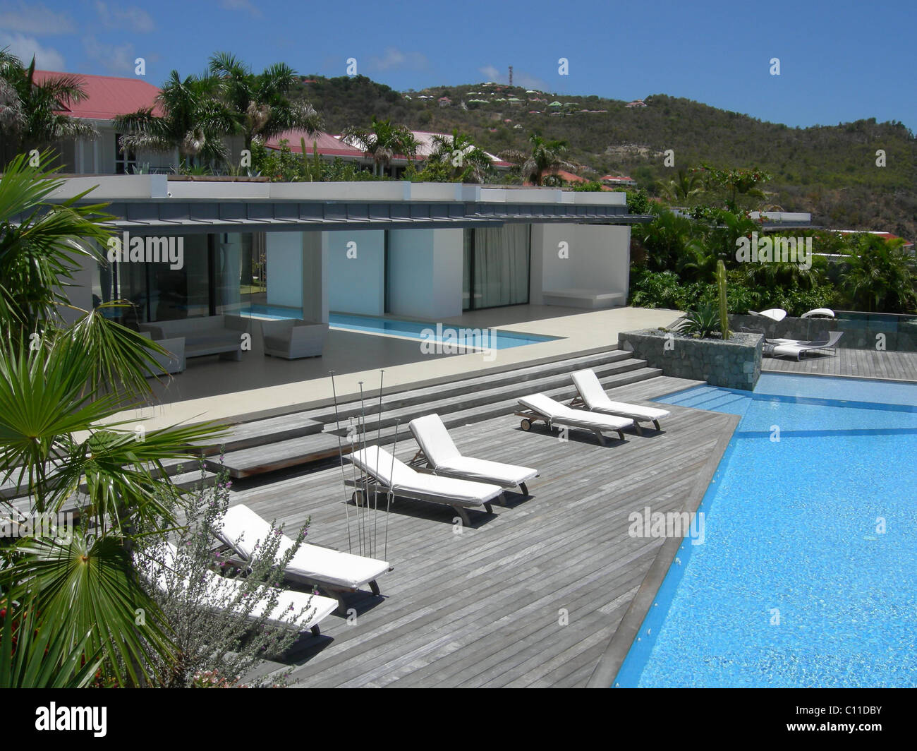 villa sky in st bart's caribbean stock photo, royalty free image