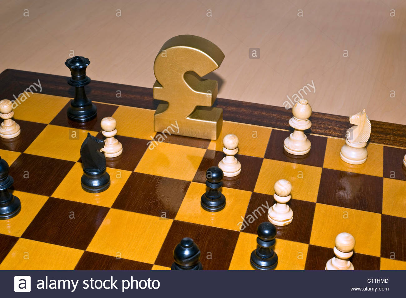 British pound sterling symbol in the kings position on a chess board british pound sterling symbol in the kings position on a chess board biocorpaavc Gallery