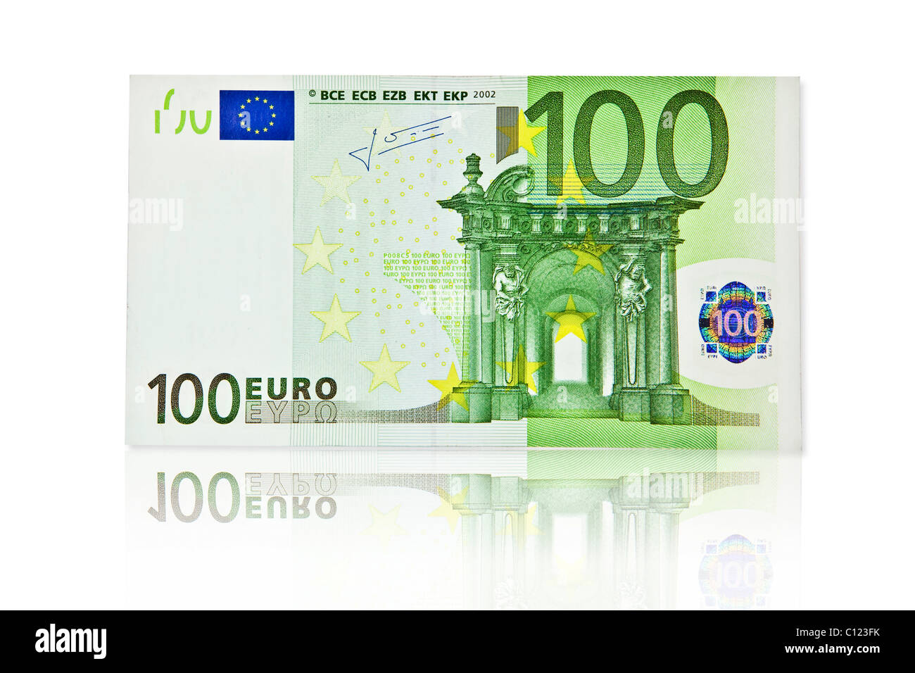 100 Euro Banknote Front Stock Photo Royalty Free Image