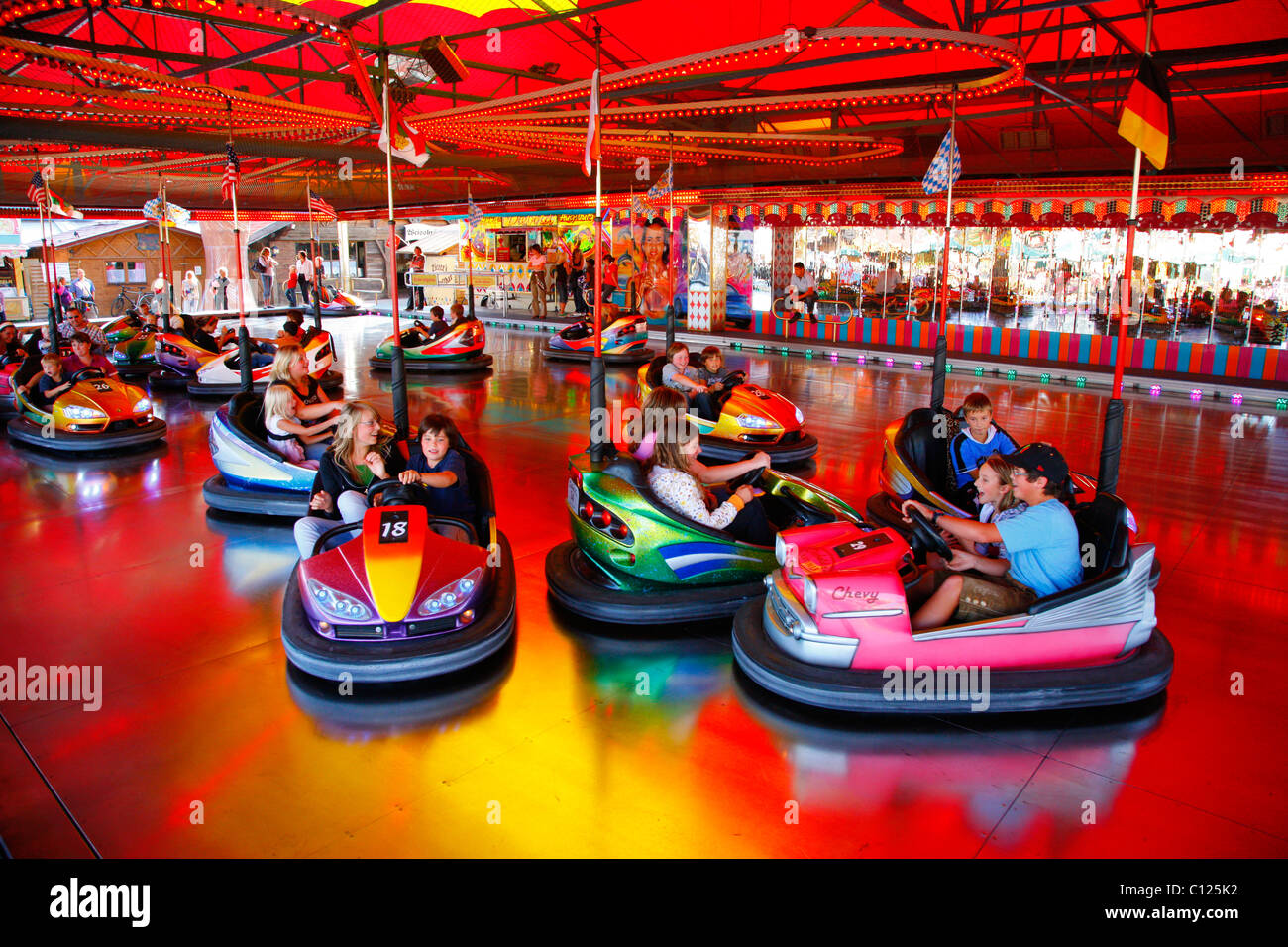 bumper cars folk festival muehldorf am inn bavaria
