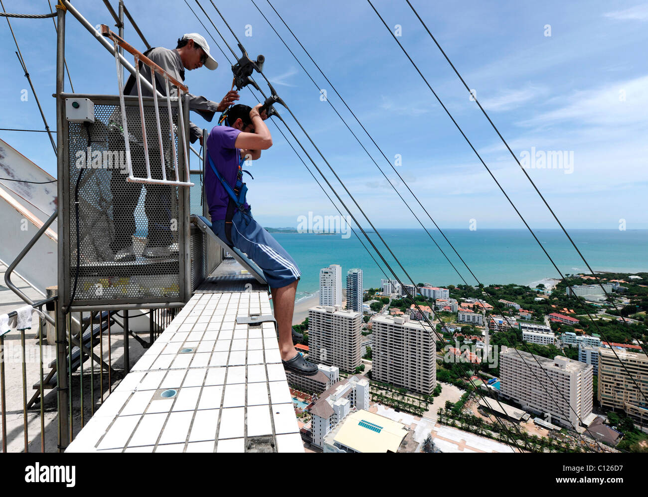 Jump from Pattaya Park Tower in Jomtien, Thailand, Asia ...