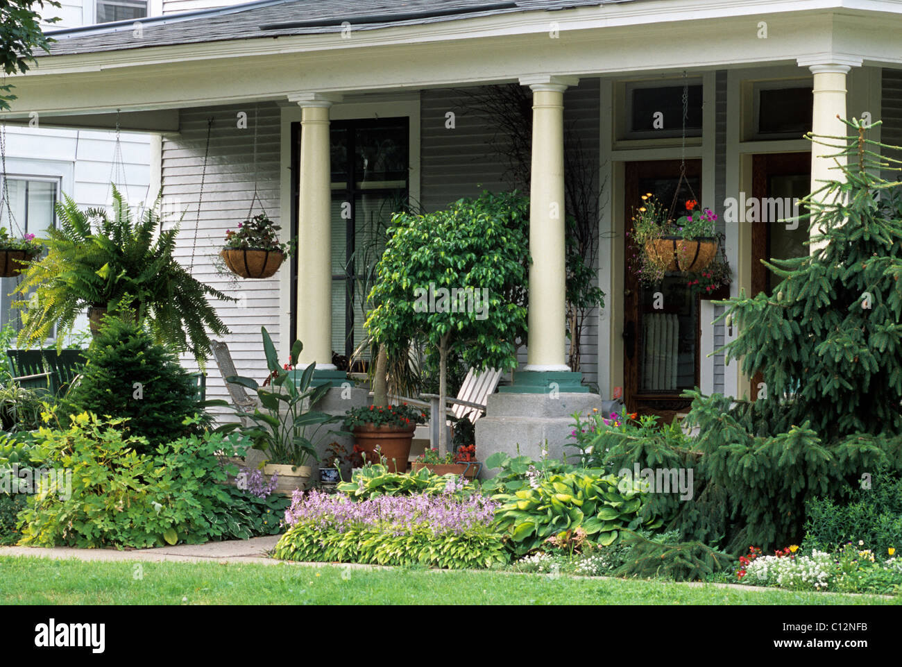 front porch or veranda of 19th century american home