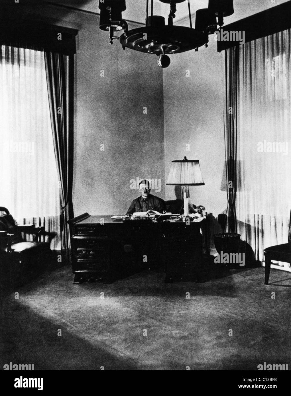 Braunes Haus adolf in his office at the braunes haus national stock