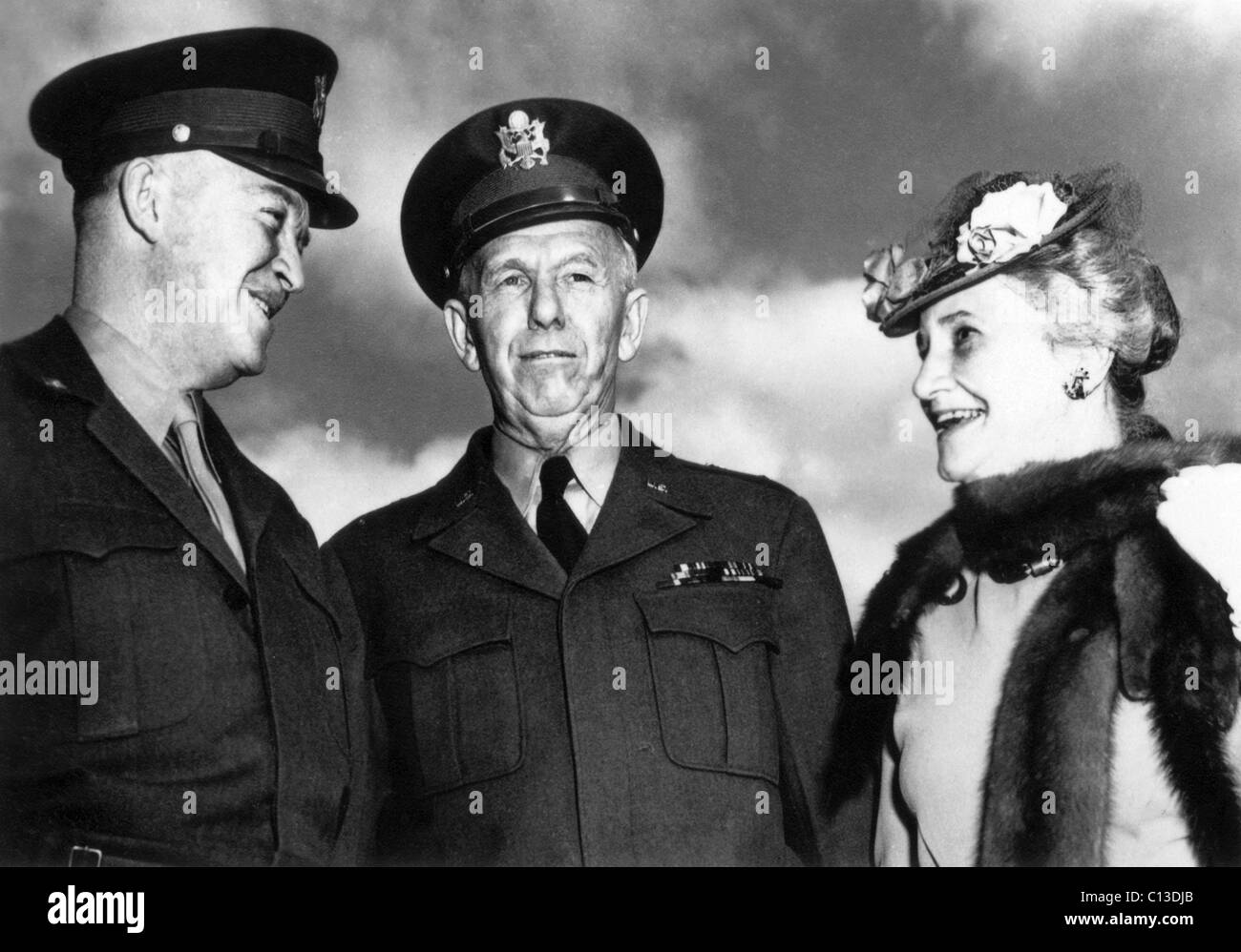 General George C Marshall Quotes - The american parade from left general dwight eisenhower general george marshall and