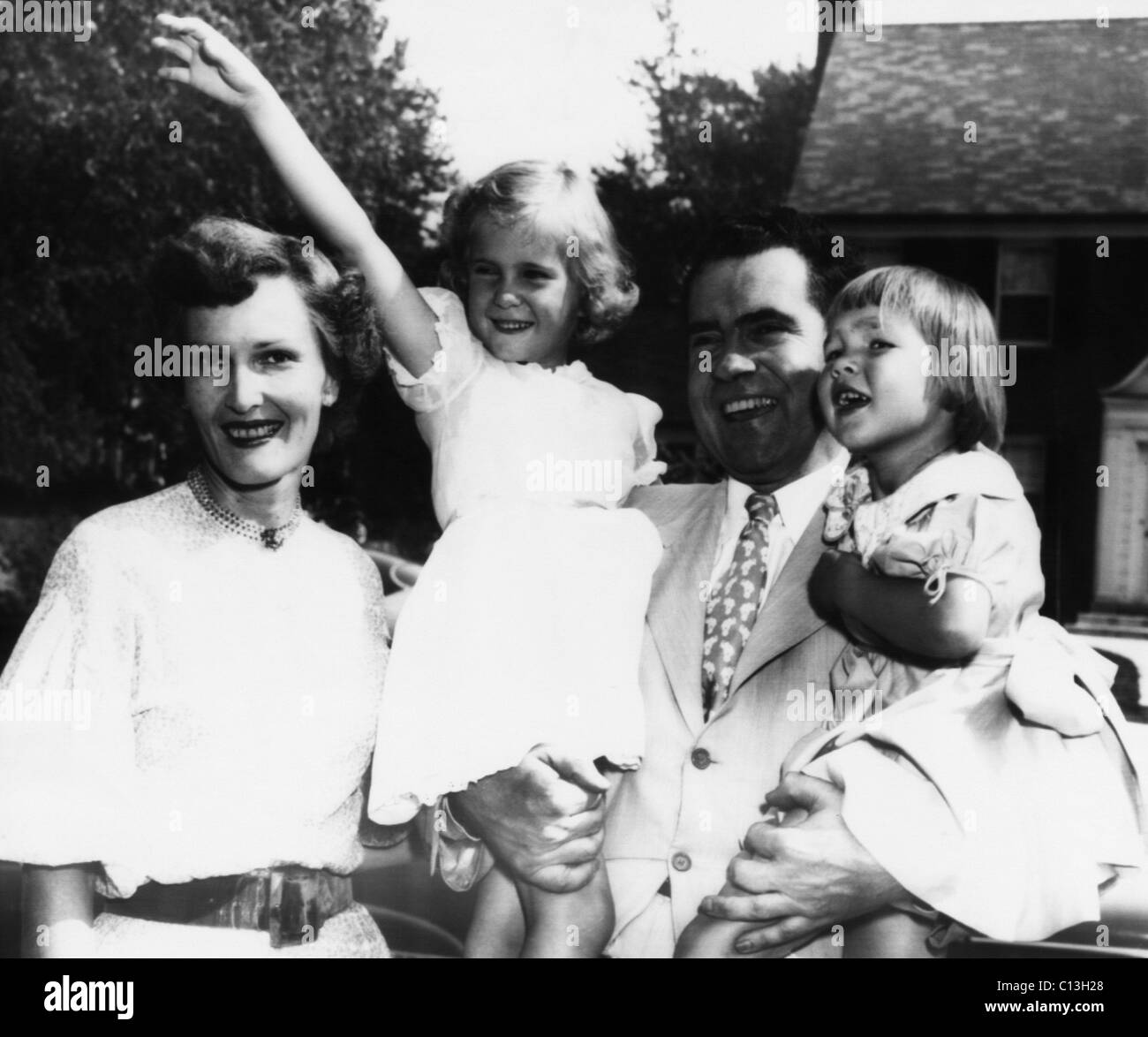 Julie And Pat Nixon S: 1952 Presidential Campaign, Nixon Family. From Left