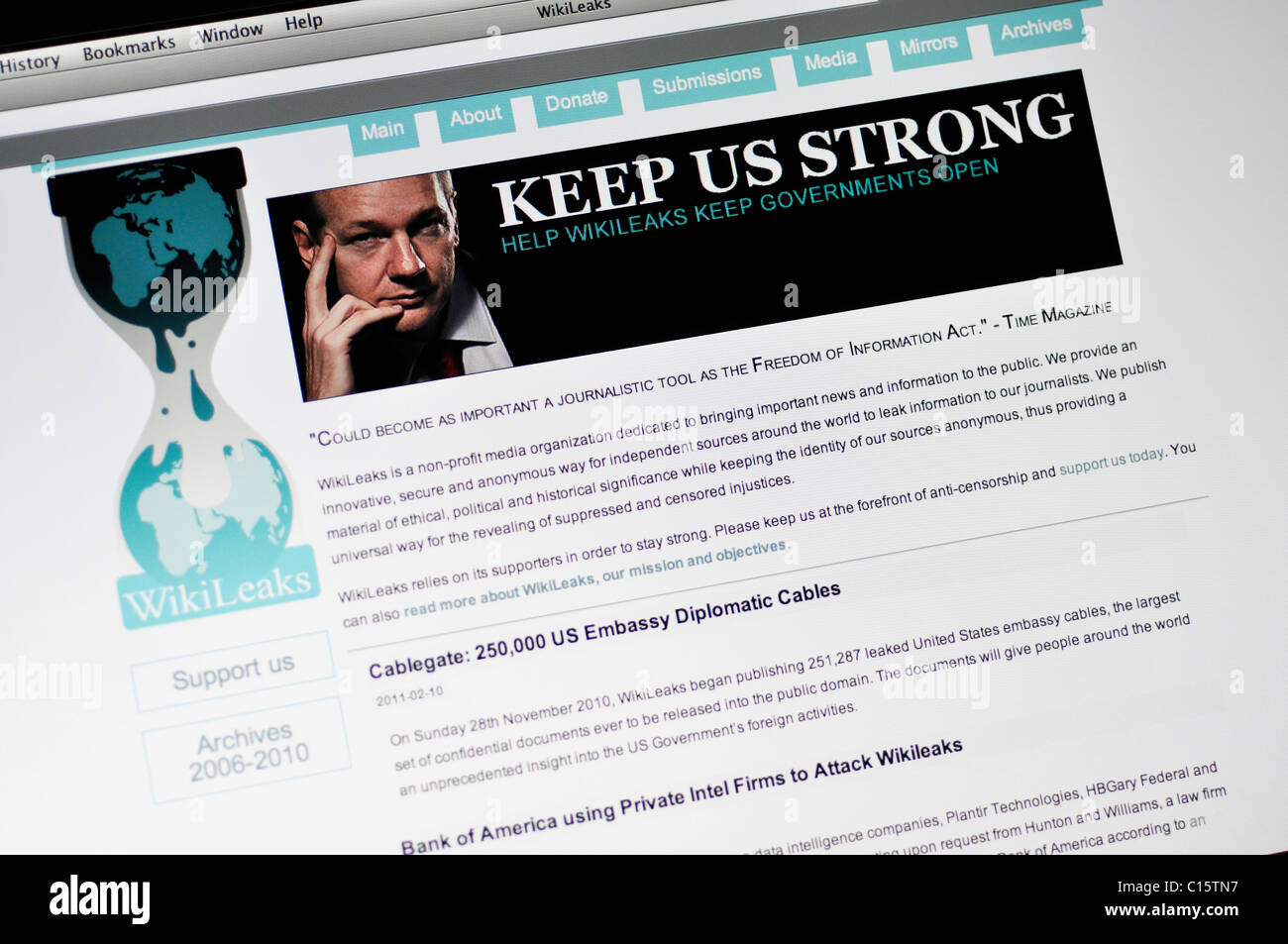 wikileaks stock photos wikileaks stock images alamy wikileaks website private secret and classified media from anonymous news sources news