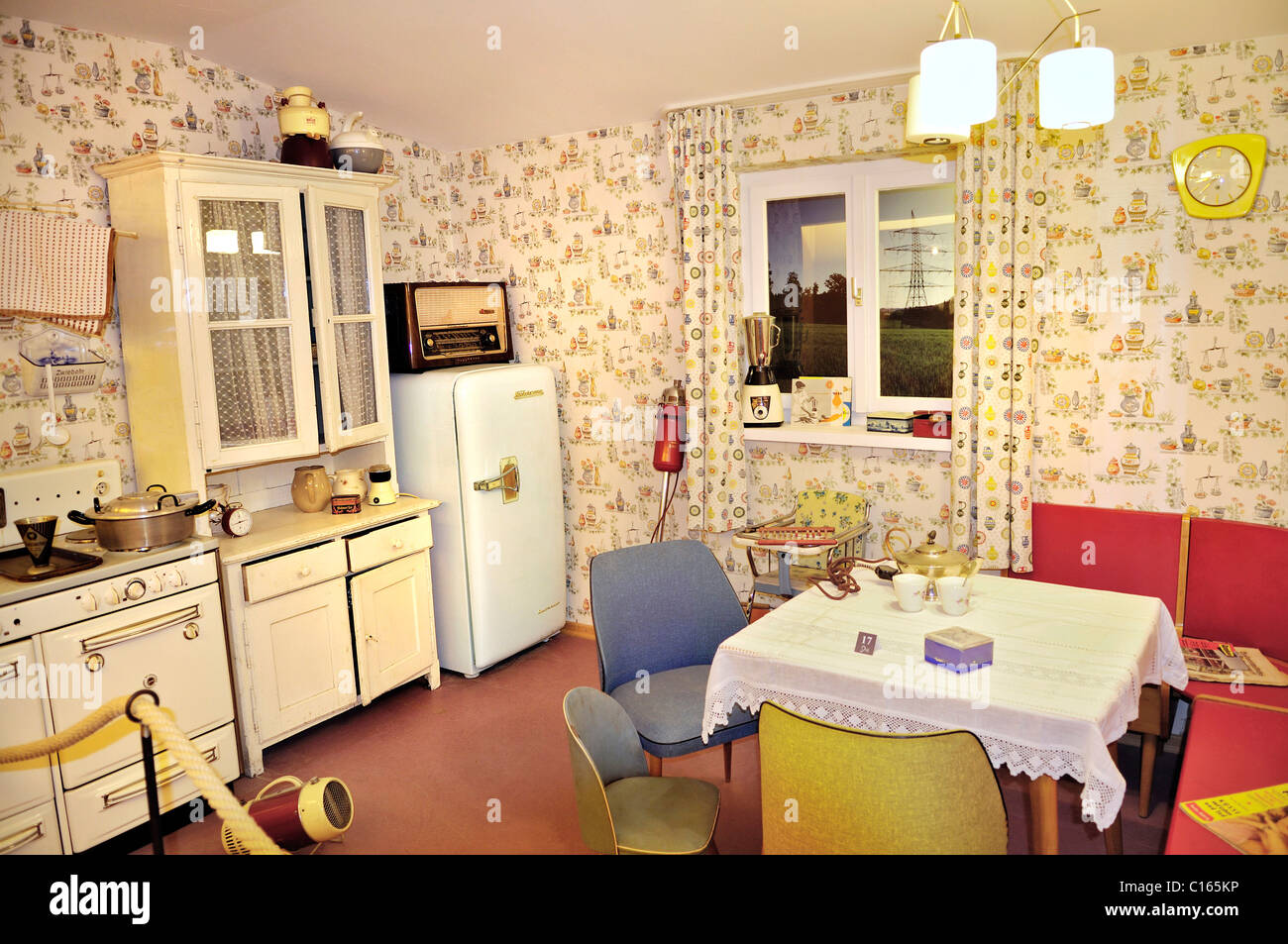 1950 u0027s style combined kitchen living room markus wasmeier farm
