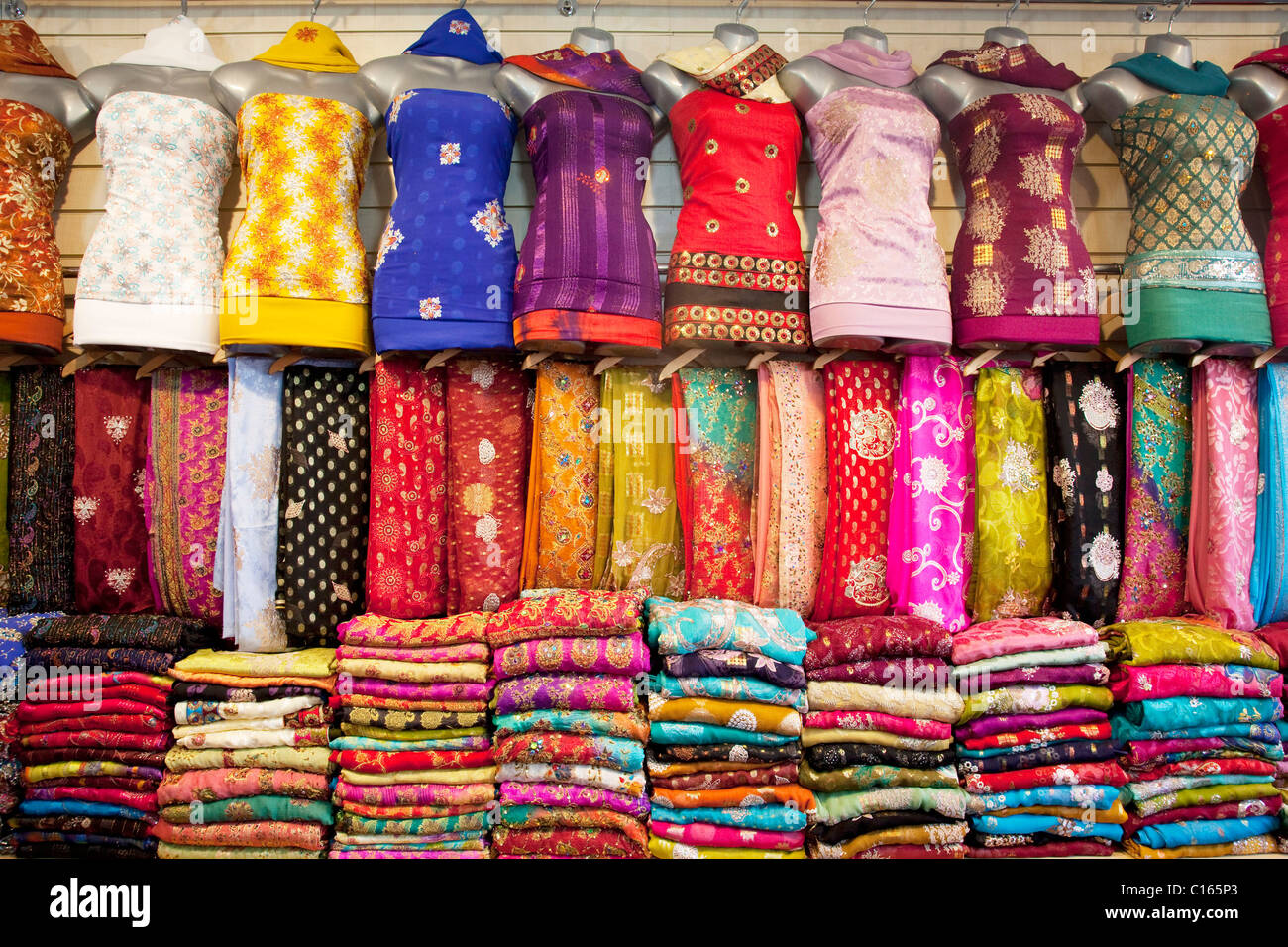 Sari Shop In Southall In West London Aka Little India