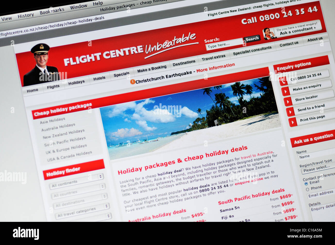 Flight Centre Website Travel Bargains Hot Deals Booking - Cruise packages with airfare