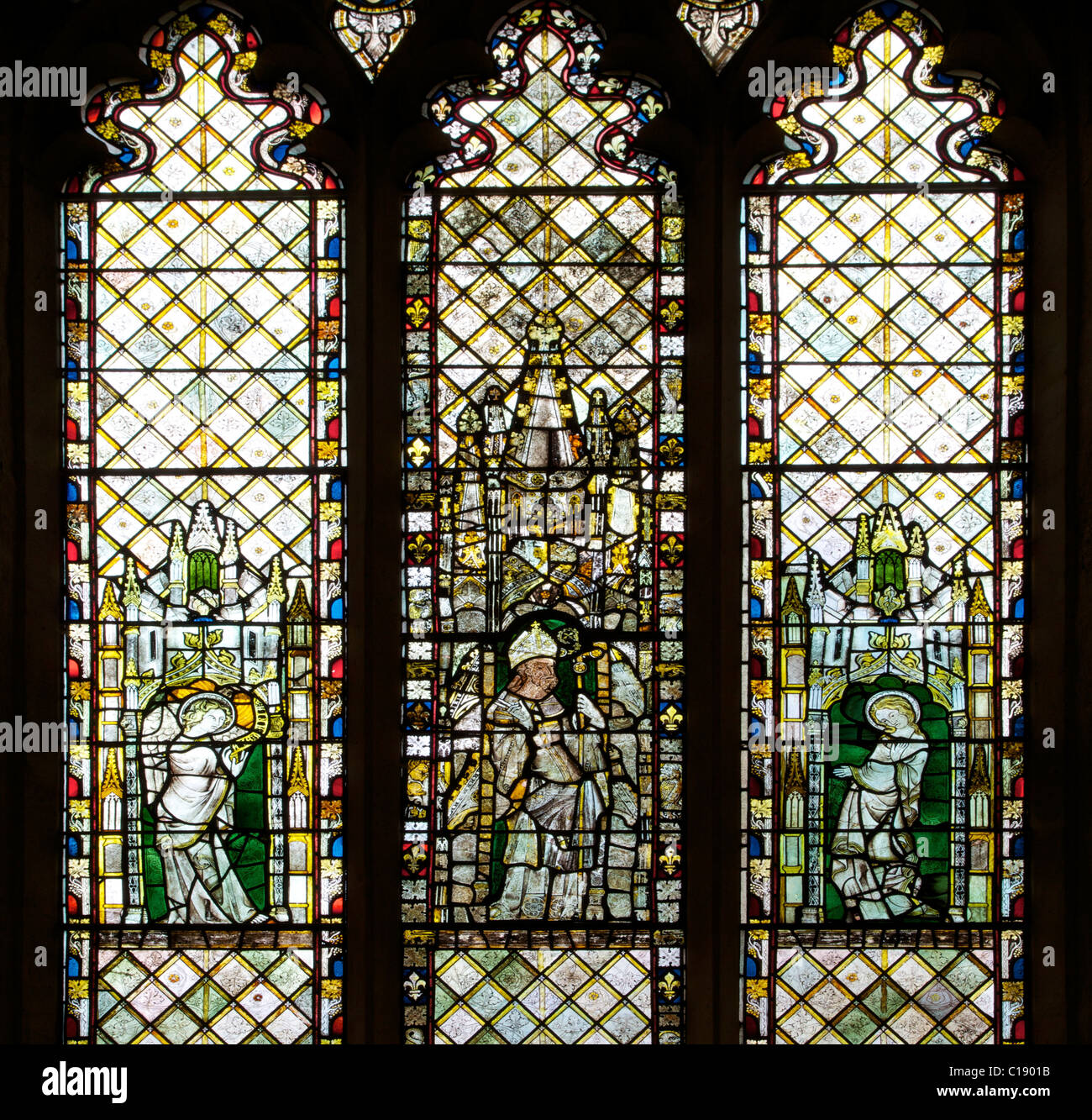 14th Century Medieval Stained Glass Windows Latin Chapel Christ Church Cathedral Oxford University Oxfordshire