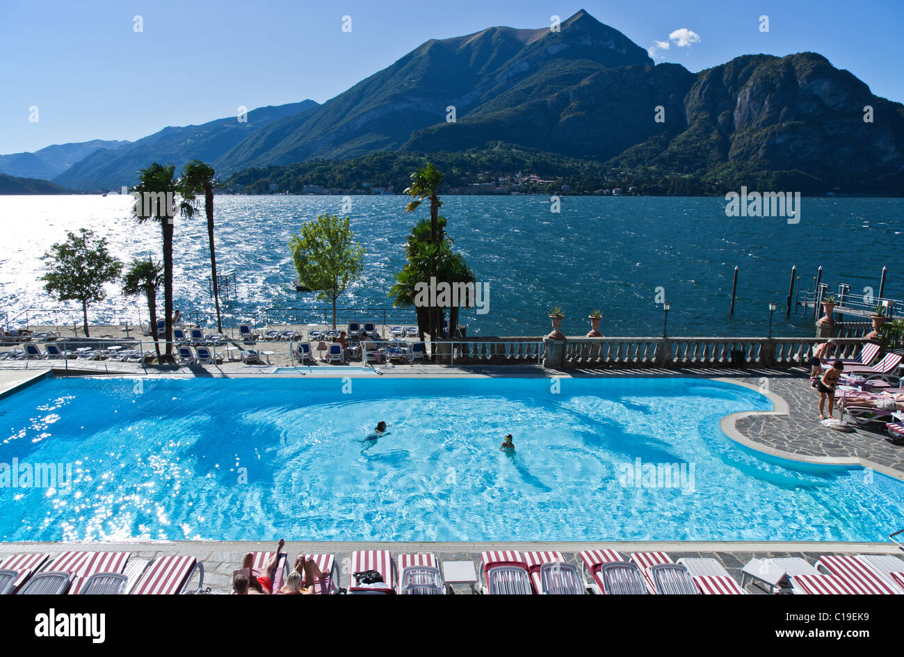 Italy Como Lake A Bellagio 39 S Hotel Swimming Pool Stock Photo Royalty Free Image 35244477 Alamy