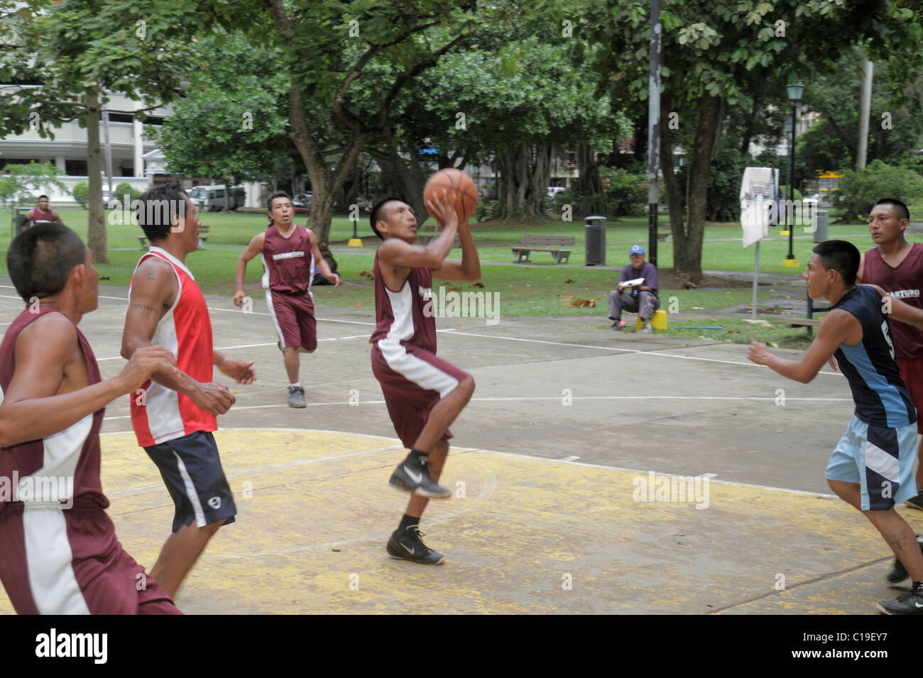 Panama Panama City Parque Urraca Urban Park Basketball League Game ...