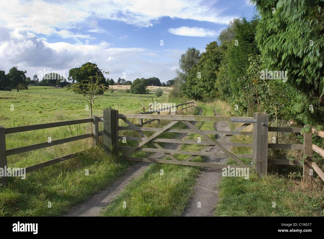 Wooden gate, Levington, Suffolk, England Stock Photo, Royalty Free ...